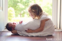 Newborn, Sibling Photography  Photo by KJane Designs - www.kjanedesigns.com