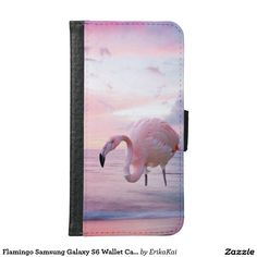 Pnk Flamingo Wallet Case for Samsung Galaxy S4, S5 or S6