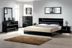 White modern bedroom sets are one of the good things that you can add to your bedroom in the house. using the bedroom sets with this type of course will white modern bedroom set, white modern bedroom sets vintage, wooden white modern bedroom sets Contemporary Bedroom Furniture, Bedroom Furniture Design, Bed Furniture, Furniture Ideas, Quality Furniture, Bedroom Modern, Modern Beds, Furniture Stores, Bedroom Black