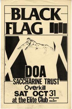 Über 80 originale black flag flyer bhsad the body research