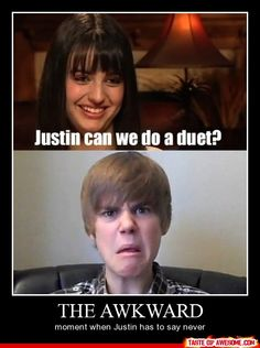 that awkward moment when bieber is actually the lesser of two evils