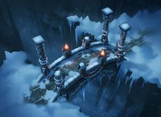 ArtStation - Snow Bridge, FreeMagician _