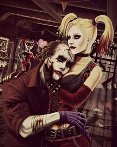 Joker and Harley Quinn. Awesome but eerie since the looks are more 'Heath Ledger' than the Joker.