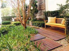 Wooden decking ./ path - modern/contemporary