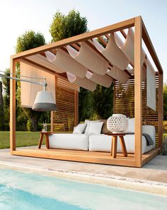 Outdoor room Outdoor room , with timber frame , real cool idea , but i don't think its very practical with the roof covering it doesn't offer much protection from bad weather conditions!