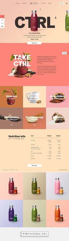 CPJ Cold Pressed Juice on Behance (Ingredients Design Layout) - data, tech, web & code - Minimal Web Design, Layout Design, Layout Web, Interaktives Design, Web Ui Design, Website Layout, Email Design, Page Design, Banner Design