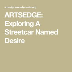 literary analysis of a streetcar named desire
