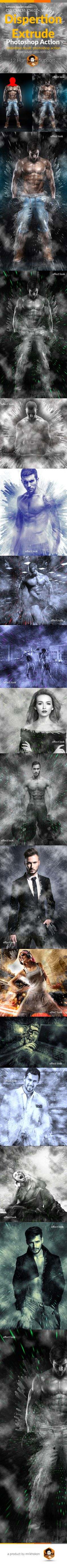 Dispersion Extrude Action — Photoshop Action #shatter #photoshop • Download ➝…