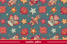 Seamless pattern. Christmas style. by Zoya Miller on Creative Market
