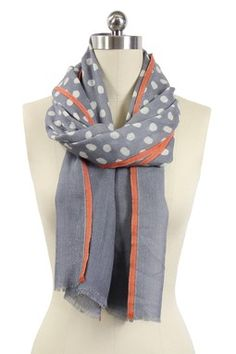 Polka Dot Scarf - Grey. So many cute polka scarves out there!