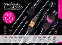 eBrochure | AVON All Makeup Brushes 50% OFF Order online at https://www.youravon.com/angiefaulkner