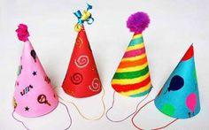 Como hacer gorros de cumpleaños con cartulina