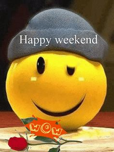 Happy Weekend to everyone. Weekend Gif, Happy Weekend Quotes, Hello Weekend, Bon Weekend, Happy Saturday, Happy Friday, Happy Weekend Images, Happy Tuesday, Animated Emoticons