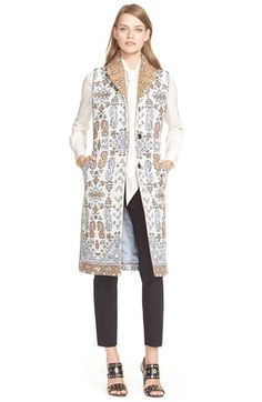 Free shipping and returns on Tory Burch Long Jacquard Vest at Nordstrom.com. A soft color palette keeps the tapestry-inspired jacquard from being overwhelming on this absolutely elegant long vest that's beautifully tailored for a streamlined fit.