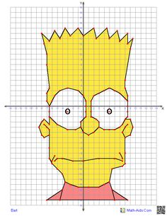 a site with different worksheets for students to have fun creating characters while graphing in all four quadrants!Here's a site with different worksheets for students to have fun creating characters while graphing in all four quadrants! Math Teacher, Math Classroom, Teaching Math, Graphing Worksheets, Graphing Activities, Math Art, Fun Math, Maths, Junior High Math
