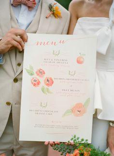 wedding menu; Rock Paper Scissors