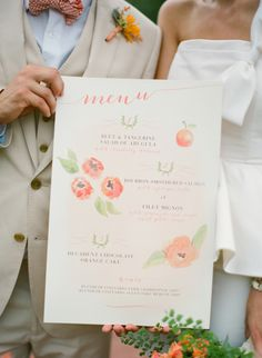 wedding menu; Rock Paper Scissors