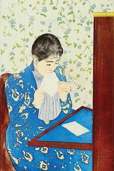 The Letter No. 1, by Mary Cassatt