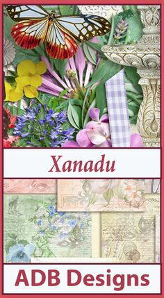 """Xanadu, according to all accounts, was a beautiful place, the first capital (1263-1273) of Kublai Khan and later the summer capital (1274-1364) of the Yuan Dynasty. Xanadu was abandoned in 1430 and over the centuries, the place name has evolved to become a descriptive term, defined as: an """"idyllic, exotic, or luxurious place"""". With abundant flowers and foliage along with plenty of beautiful garden accents, this collection will allow you to scrap all of your beautiful, idyllic … places.  30%…"""