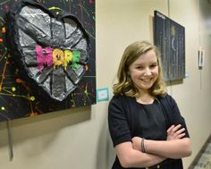 "Determined 12-year-old creates art to inspire others facing illness : Kaya Inkster of St. Cloud has spent more time in hospitals as a little girl than most adults. ""Since she's been born, she's been ill,"" said Katie Kinzer, an art therapist paid for by the state to visit with the disabled and chronically ill girl who had a stroke in utero."