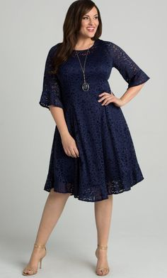 a194bd84734 Check out the deal on Livi Lace Dress at Kiyonna Clothing Cocktail Dresses  With Sleeves
