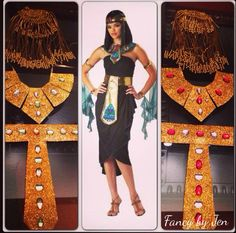 DIY  Egyptian costume / belt and necklace