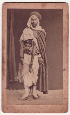 Africa: Berber man, Morocco, Old Photo