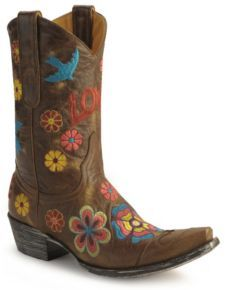 cowgirl boots. color!