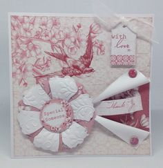 Created using Toile collection, design by Julie Hickey Craftwork Cards, Mothers Day Cards, Folded Cards, Different Shapes, Card Making, Greeting Cards, Gift Wrapping, Simple, Card Ideas