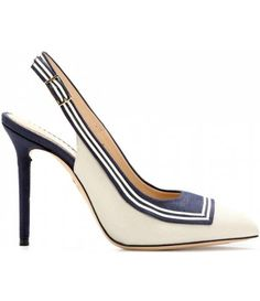 Charlotte Olympia Plain Sailing Canvas Pumps//
