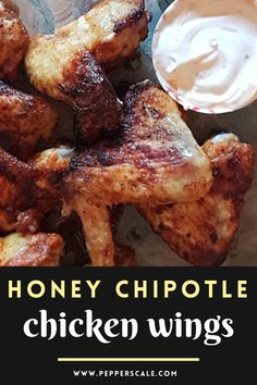 What's not to love about sweet smoky heat? The mix of sweet honey and smoky chipotle pepper makes these chicken wings a real favorite for game day and gatherings of all types. Honey chipotle wings are also very easy to make, so you'll find yourself gravitating to this recipe any time you have a wing craving. #chickenwings #appetizers #honeychipotle #chicken #gamedaychickenwings #gamedayrecipe Chipotle Chicken Wings Recipe, Honey Chipotle Chicken, Chipotle Pepper, Game Day Food, Stuffed Hot Peppers, Spicy Recipes, Hot Sauce, Cravings, Appetizers