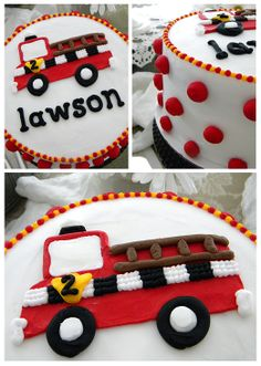 Fire truck cake ~ My Sweet Things
