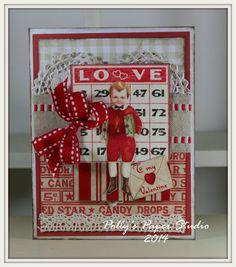 Sweet Valentine Boy Greeting Card Handmade by PollysPaper on Etsy, $5.50