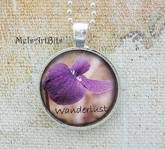Wanderlust Inspired Wild Violet Purple  Floral by MelsArtBits