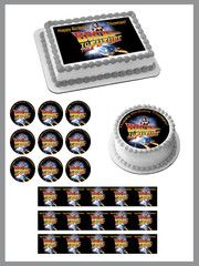 Back to the Future 1 Edible Birthday Cake Topper OR Cupcake Topper, Decor