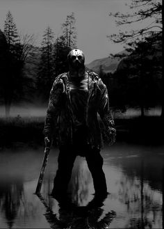 ~Friday The ~Slasher King ~Jason Voorhees ~ Jason Voorhees, Slasher Movies, Horror Movie Characters, Horror Movies, Foto Poster, Poster Print, Jason Friday, Friday The 13th, Happy Friday