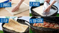 How to Grill Pizza- definitely want to try this!