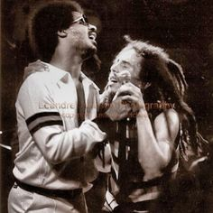 "marleyfamily: "" Stevie Wonder and Bob Marley """