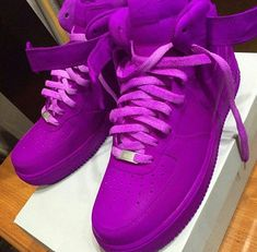 New Custom Painted All Purple All Sizes Nike Air by KapeClothingCo