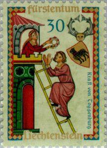 Issued in 1962, Liechtenstein - Codex Manesse
