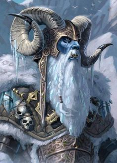 Ymir - Ymir is the first great adversary Buri (Odin's grandfather) encounters. Ymir's sons kill Buri out of jealousy. Odin and his brothers then go to war with Ymir and his sons and kill them all but for Bergelmir and his wife, who leave to settle new lan Dungeons And Dragons, Norse, Fantasy Characters, Character Art, Fantasy Artwork, Fantasy Art, Fantasy Creatures, Mythology, Fantasy Monster