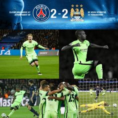 PSG 2 CITY 2  Champions League Quarter-Final 1st leg #mcfc