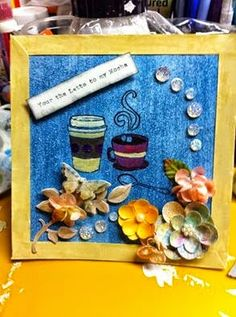 """Damsel Designs: This one is a small 6"""" x 61/4"""" piece. I used Folka..."""