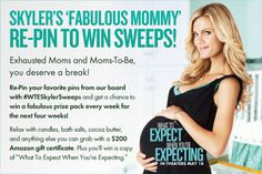 "Win yourself some ""me"" time with Skylar's 'Fabulous Mommy' Re-Pin To Win Sweeps! #WTESkylerSweeps."