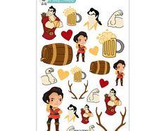 Gaston - planificador engomadas Disney