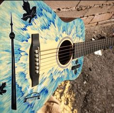 Custom hand drawn / painted guitar by Toronto artist Paul Limgenco for celebrity musician Stevie Nicks - watch the video for details & more CELEBRITIES' custom gifts! Custom Gifts, Customized Gifts, Stevie Nicks, Hand Drawn, Toronto, Exotic, How To Draw Hands, Artisan, Music Instruments