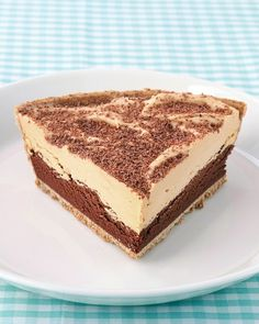 Peanut-Butter Chocolate Pie - turn parfait into pie.  I make this with 4 layers.  It ends up looking more impressive.