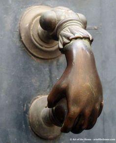 French antique door knocker