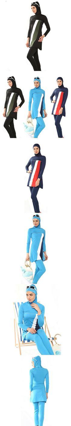 2016 modest swimsuits islamic swimwear Women muslim bathing suit muslimah swimming swim adulte Arab Beach Wear high waist hijab $43.2 Modest Bikini, Modest Swimsuits, Islamic Swimwear, Hijab Wear, Fashion Bags, Muslim, Bathing Suits, Swimming, Beach