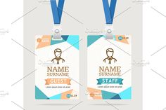 Id Card Template Plastic Badge Graphics Id Card Template Plastic Badge with Abstract Colored Polygonal Design. Vector illustrationDear cus by Stacy Name Tag Design, Id Card Design, Badge Design, Web Design, Layout Design, Creative Design, Design Trends, Id Card Template, Card Templates